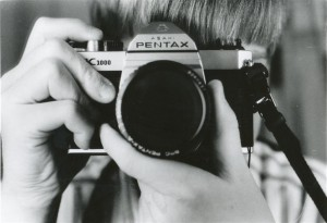 Me, about 25 years ago, with my trusty Pentax K1000